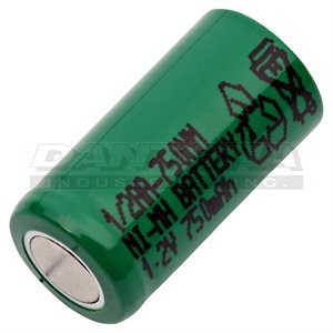 CELLULE 1 / 2 AA 1.2 V 750 MAH NIMH FLAT TOP
