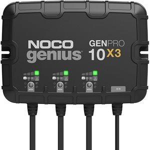 CHARGEUR AUTOMATIC GENNIUS 12V 30A 3 BANQUES ON-BOARD