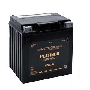 BATTERIE MOTO AGM PLATINUM ELITE 12V 32 AH 500 CCA