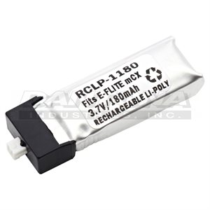 RC BATTERY PACK 3.7V 180MAH LIPOLY